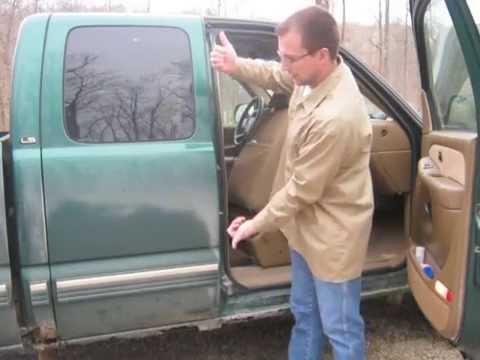 Chevy Silverado Extended Cab Door Handle Latch Repair 1999 - 2006 - YouTube