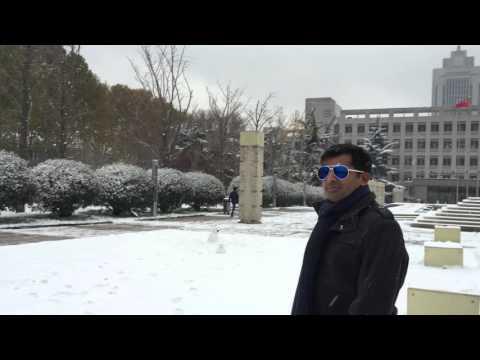 Snow Falling at Shandong University Mumtaz Kherani