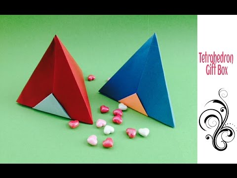 Tetrahedron | Pyramid Gift Box - DIY Origami Tutorial by Paper Folds
