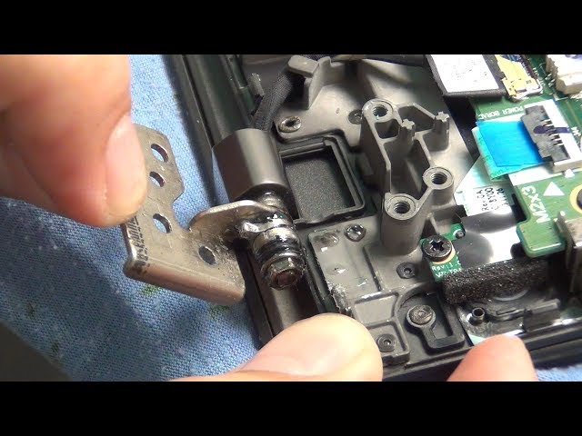 How to loosen or tighten up the hinges on a laptop to prevent cracks and damage to the frame