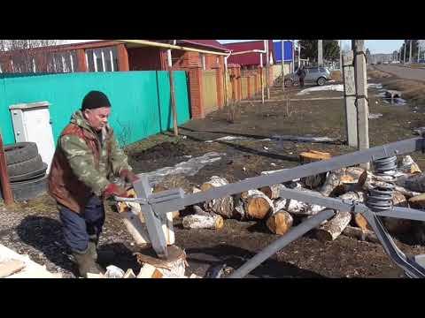Дровокол механический  пружинный колоть дрова