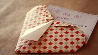 Corazon camisa // origami - Dia del padre