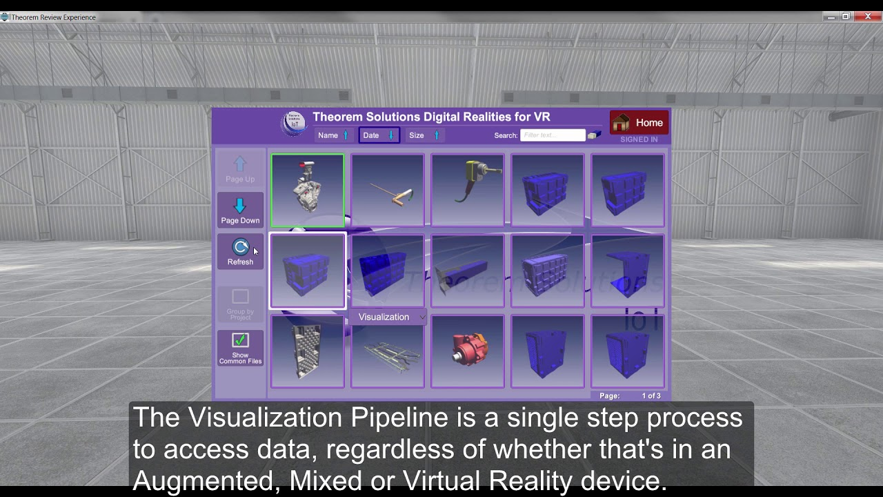 Kaizen PLM - Theorem Solutions - Visualisation Pipeline
