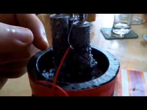 Magnesium And Graphite And Sea Salt Battery