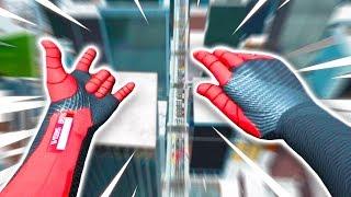 the adventures of Yeeter Parker in Spiderman VR