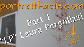 """""""LP"""" Laura Pergolizzi  Conté à Paris 610 sur papier Ingres"""