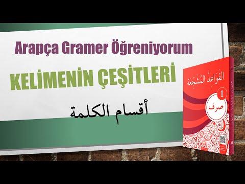 Arapça Sarf Kitabı 1.Ders Konu Anlatımı