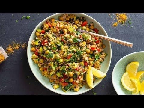 Super Flavorful Roasted Chickpea Salad