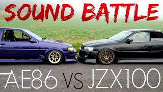 JDM SOUND BATTLE | AE86 COROLLA VS CHASER JZX100