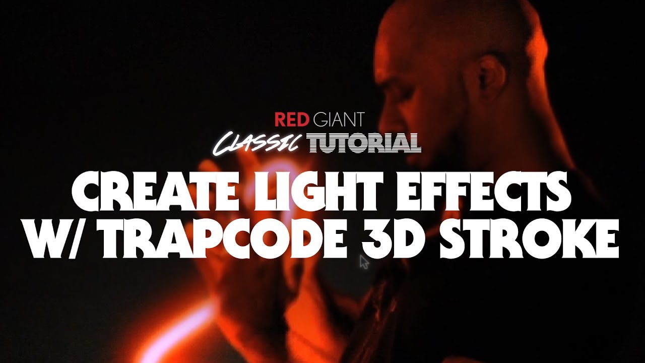 Classic tutorial create light effects w trapcode 3d stroke