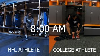 Day In The Life: NFL VS College