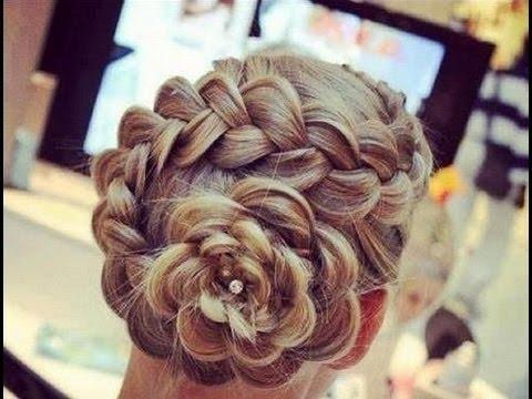 Peinados con trenzas y rosas