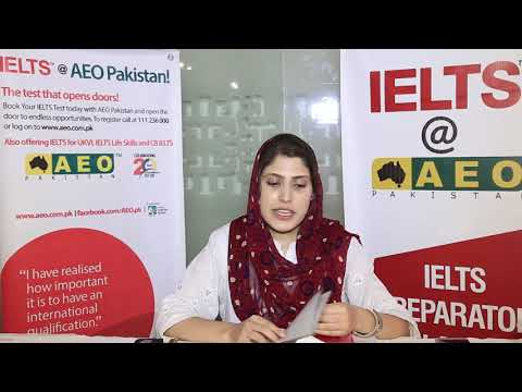 IELTS at AEO Pakistan - the test that opens doors