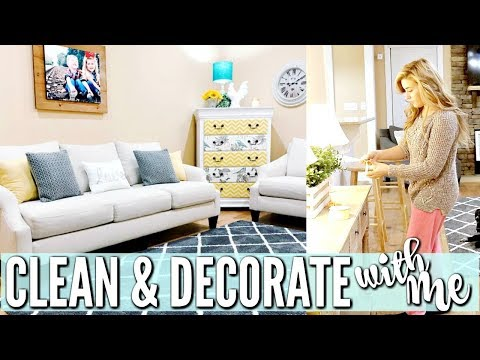CLEAN AND DECORATE WITH ME | FARMHOUSE HOME DECOR | TAKING DOWN CHRISTMAS DECOR