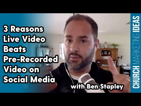 Why use live instead of recorded video on social Media (with Ben Stapley)