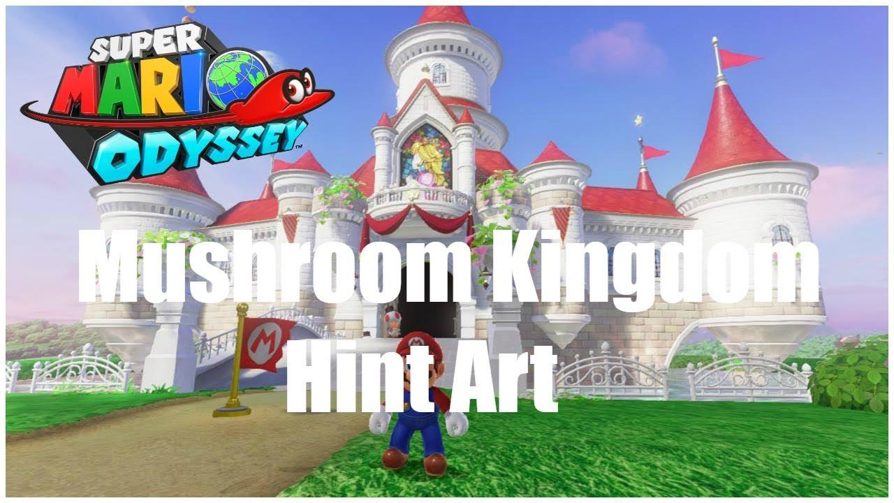 Super Mario Odyssey Mushroom Kingdom Hint Art Nintendo Switch