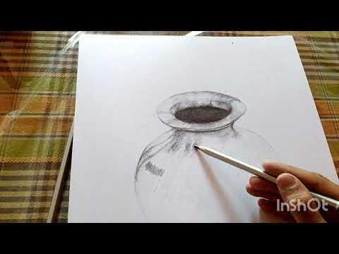 Still life tutorials | how to draw | pencil sketch | metal vessel