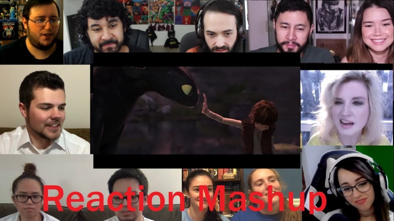 HOW TO TRAIN YOUR DRAGON 3  THE HIDDEN WORLD   Official Trailer REACTION MASHUP