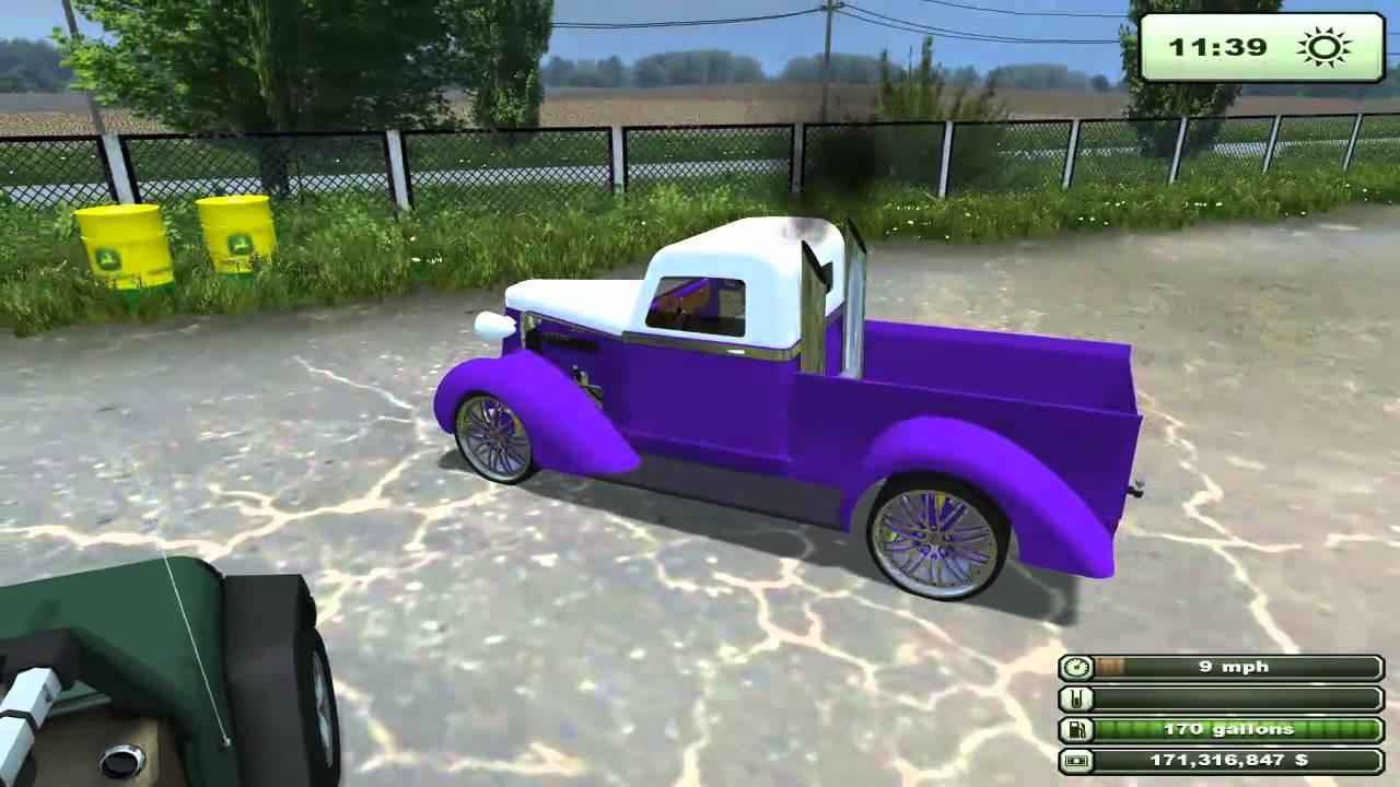 Farming simulator 2013 mods dodge 2500 36 dodge pickup international and kenworth semi youtube