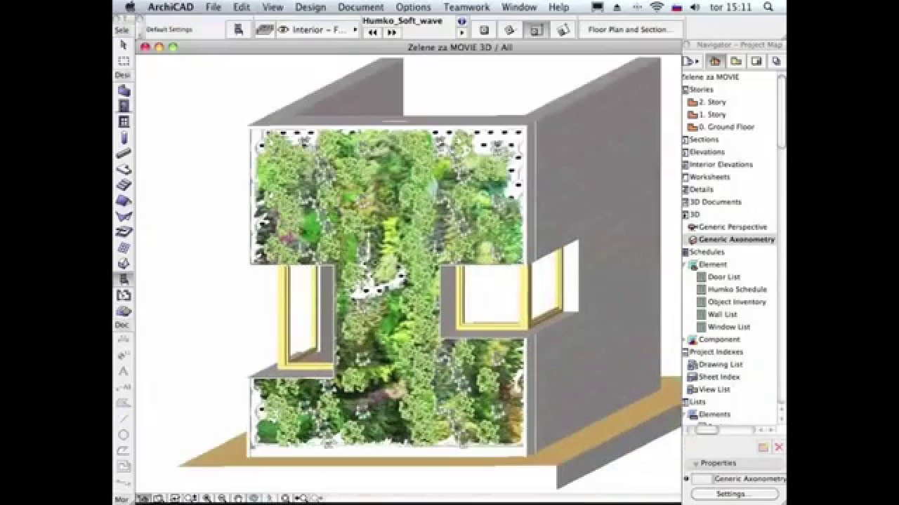 Softwave Green Wall in Archicad BIM Components