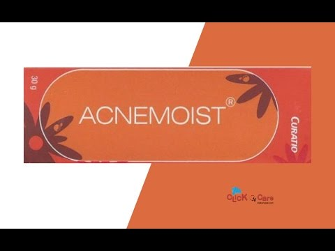 Acnemoist Oil Free Moisturizer Cream Clickoncare Youtube