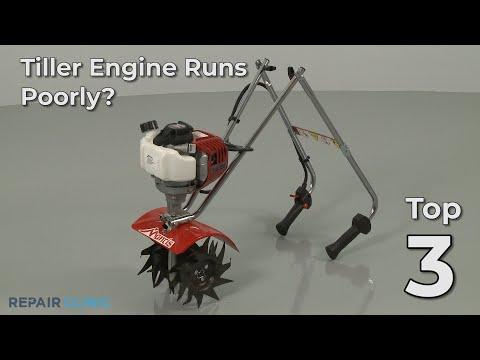 "Thumbnail for video ""Tiller Engine Runs Poorly? Tiller Troubleshooting"""