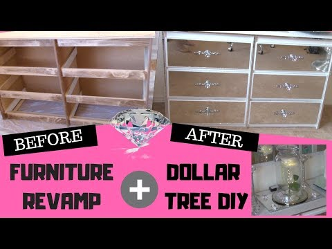 ONE OF MY FAVE DIY!! MUST SEE | HOW TO MAKE MIRROR FURNITURE | DOLLAR TREE DIY HOME DECOR
