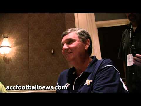 Georgia Tech Yellow Jackets football coach Paul Johnson at 2012 ACC Football Kickoff - part 2