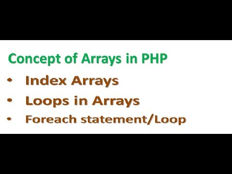 PHP Lecture 6 | Php Arrays in hindi | Loop in Array in php | php Foreach statement | index array php