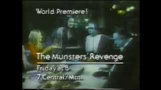The Munsters' Revenge & Monster Disasters 1981 NBC Promo