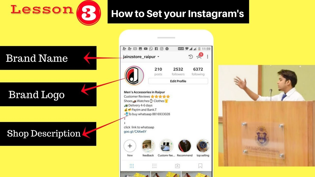 How to Set your Instagram's Brand Name | Brand logo | Bio || Make your Instagram shop in Hindi