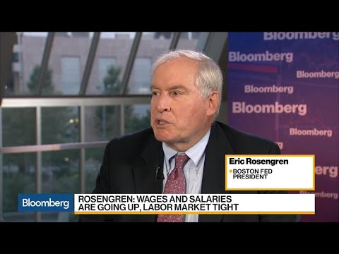 Rosengren Sees Wage, Price Pressure in Tight Labor Market