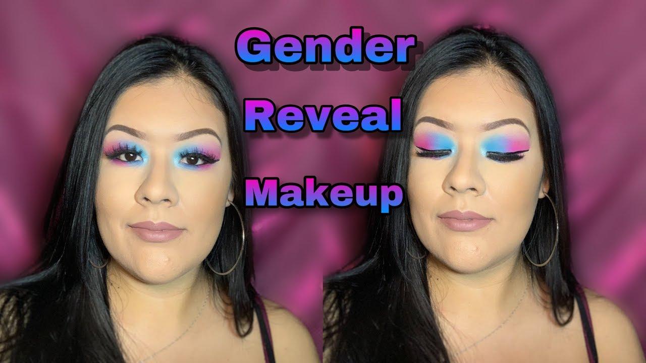 Gender Reveal Makeup Look Vivian Cisneros Youtube