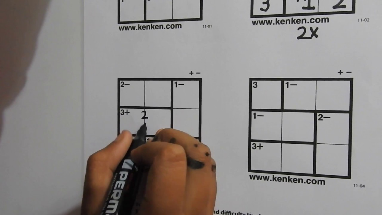 photo regarding Kenken Puzzles Printable named How Towards Resolve 3x3 KenKen Puzzles - Master Within just 5 Minutes