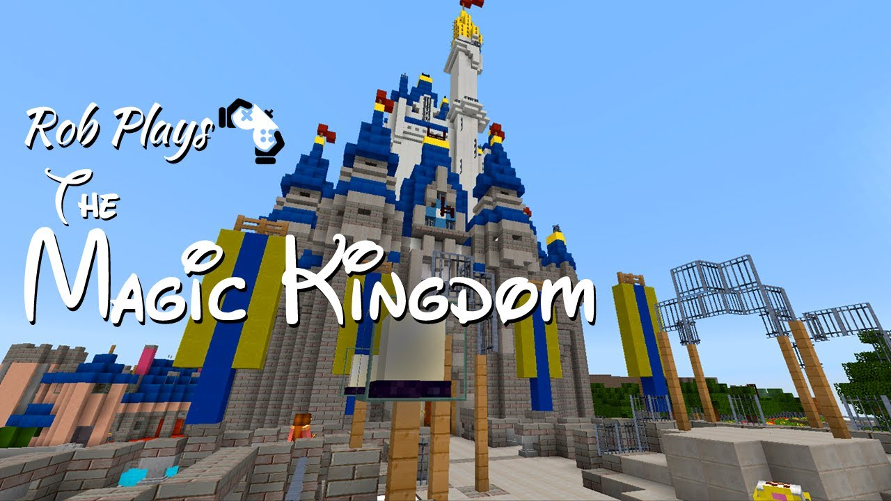 Minecraft Disney World The Magic Kingdom Part 1 Youtube