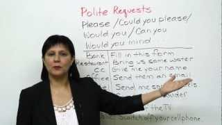 Conversational English – How to make polite requests