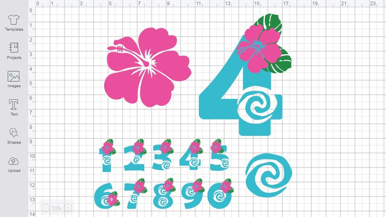Download Moana Numbers SVG for Cricut Silhouette cut file princess ...