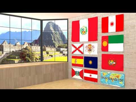 Himno y banderas de Perú | Peru flags and anthem