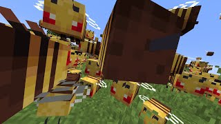Beating Minecraft, But Thousands Of Bees Attack Us...