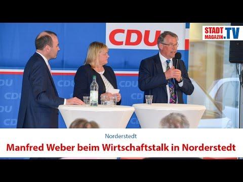Manfred Weber beim Wirtschaftstalk in Norderstedt