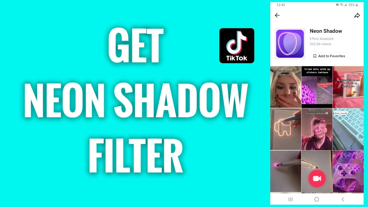 How To Get A Neon Shadow Filter On Tiktok Freewaysocial