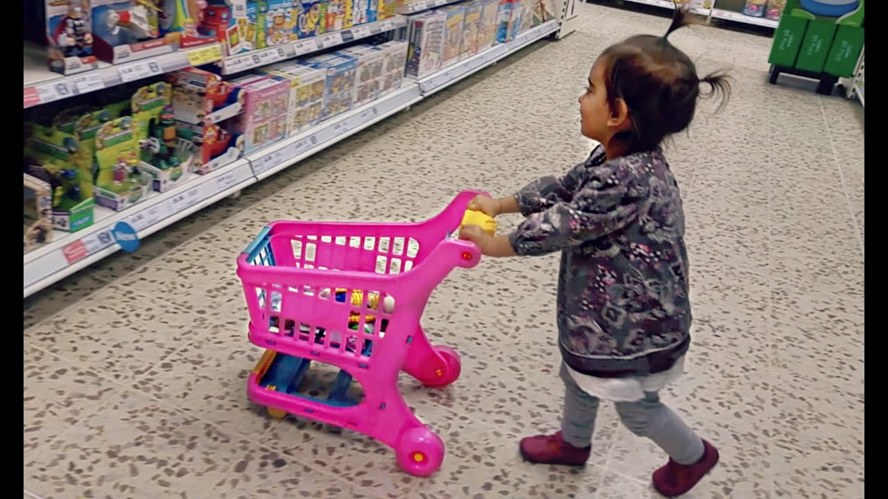 baby doing grocery shopping toy shopping cart youtube. Black Bedroom Furniture Sets. Home Design Ideas