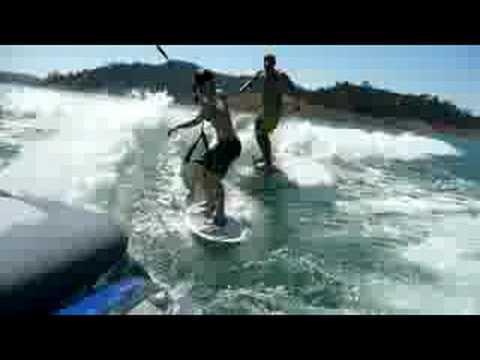 Dual Wakesurfing