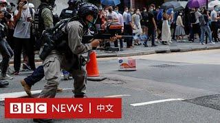香港《國歌法》:警方在蘭桂坊發射多枚胡椒球彈- BBC News 中文