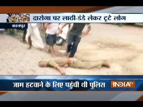 Public brutally thrashes cops in anger after girl raped in Kanpur