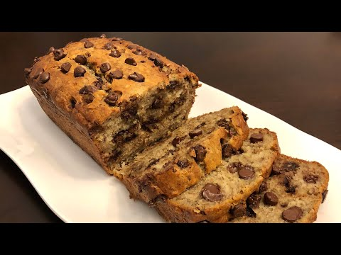 CHOCOLATE CHIPS BANANA BREAD - Super Soft And Moist