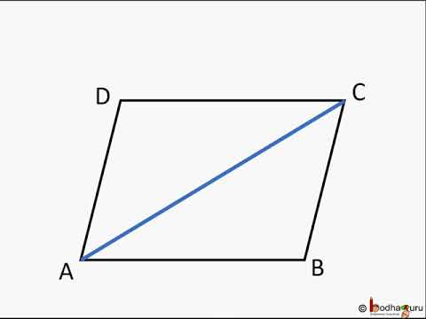 geometry opposite sides of a parallelogram parallel and equal