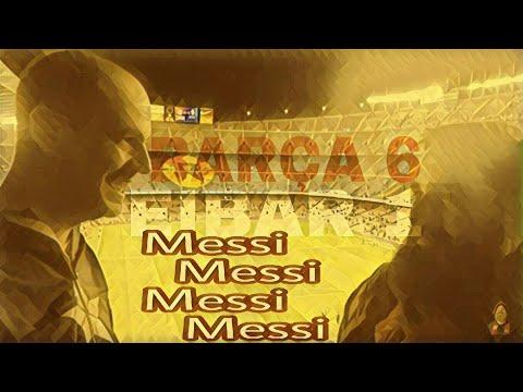 FC Barcelona 6 - Eibar 1 Messi 4 goles al filo de la media noche, Denis, Paulinho, Deulofeu 5 de 5