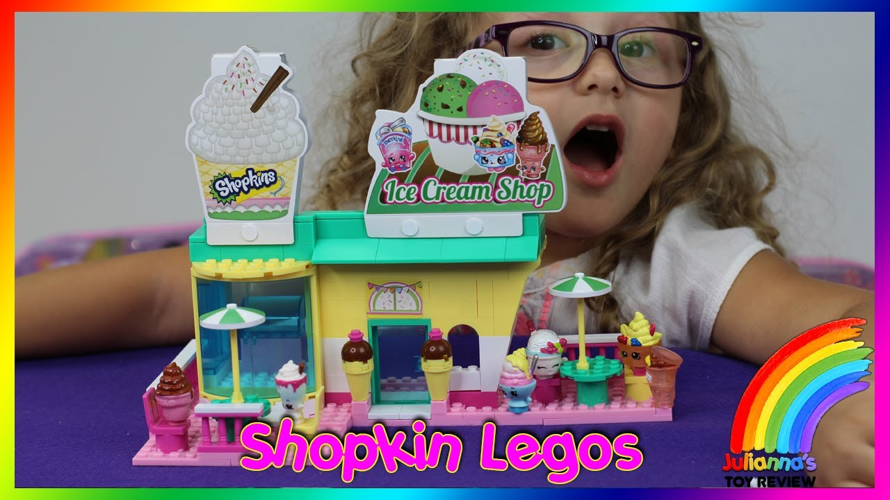 Shopkins Lego Kinstructions Ice Cream Shop Unbox And Play Youtube