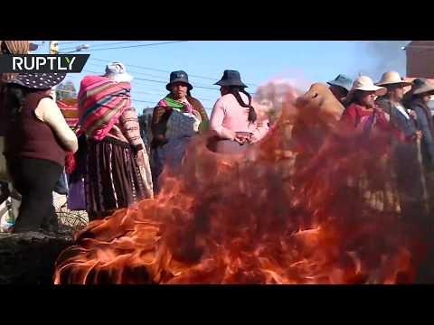 Morales supporters block oil refinery near La Paz